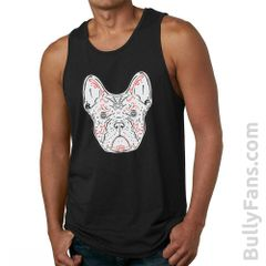 Bully Fans Frenchie De Los Muertos Tank Top - Black