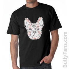 Bully Fans Frenchie De Los Muertos T-shirt - Black