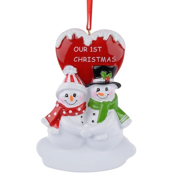 snowman couple 1st christmas