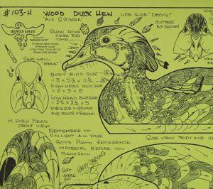wood duck hen decoy pattern mdi woodcarvers supply