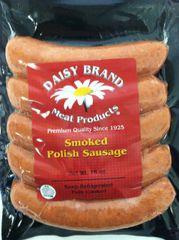 Bun Sized Smoked Polish Sausage (16 oz pack)-JULY SALE!