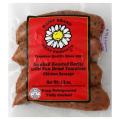 Roasted Garlic & Sun Dried Tomato Chicken sausage (12 oz pack)