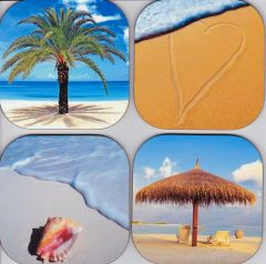 Beach coasters ( set of 4 as pictured )