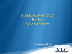 QuickBooks Online 2017- Accounts Payable