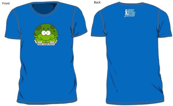 Turtle Race T-Shirt Blue