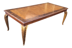 CARVED FRENCH DINING TABLE BY RANDY ESADA DESIGNS