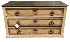 Antique 18C Italian Paint Decorated Commode Chest of Drawers Tuscany