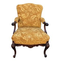 Antique 19th C George II Style Walnut Arm Chair