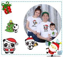Panda X'mas Family Tees