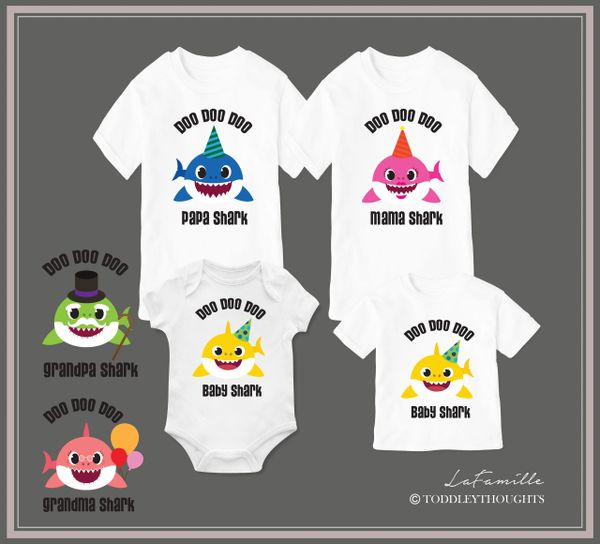 078d2292 Baby Shark Doo Doo Family T-shirt | Toddley thoughts - Personalized Family T -shirts & Baby Onesies