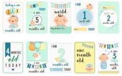 Baby Boy Milestones Card