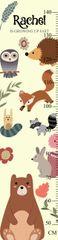 Woodland Animals Growth Chart