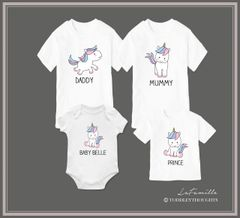Pastel Unicorn Family