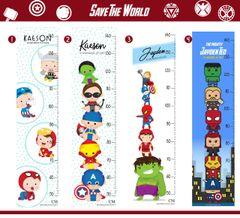 *2019 Superheroes Height Chart