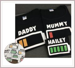 Battery Life Family T-shirts