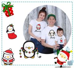 Penguin X'mas Family Tees