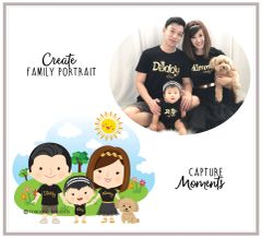 Whimsical Family Portrait Custom Tees