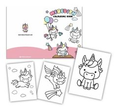 Kawaii Unicorn- Colouring Book