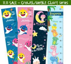 11.11 Personalized Height Chart (12Designs)
