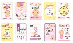 Baby Girl Milestones Card