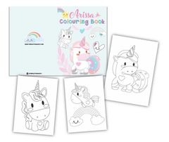 Pastel Unicorn Colouring Book