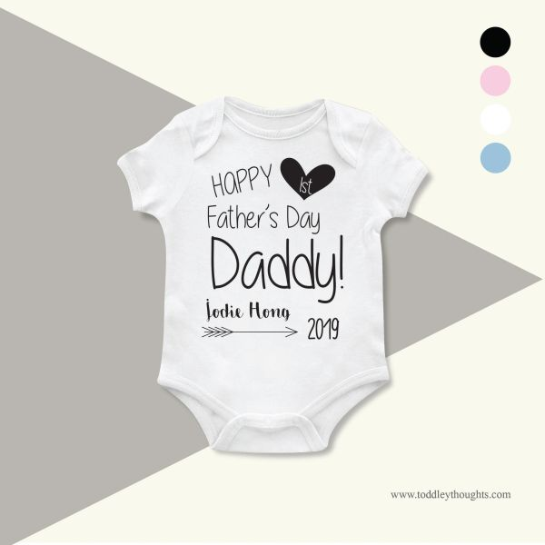 d09d9e9b7 Happy 1st Father's Day [Onesie or T-shirt] | Toddley thoughts - Personalized  Family T-shirts & Baby Onesies