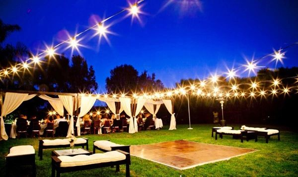 bistro lighting 200 ft rental table and chair rentals weddings