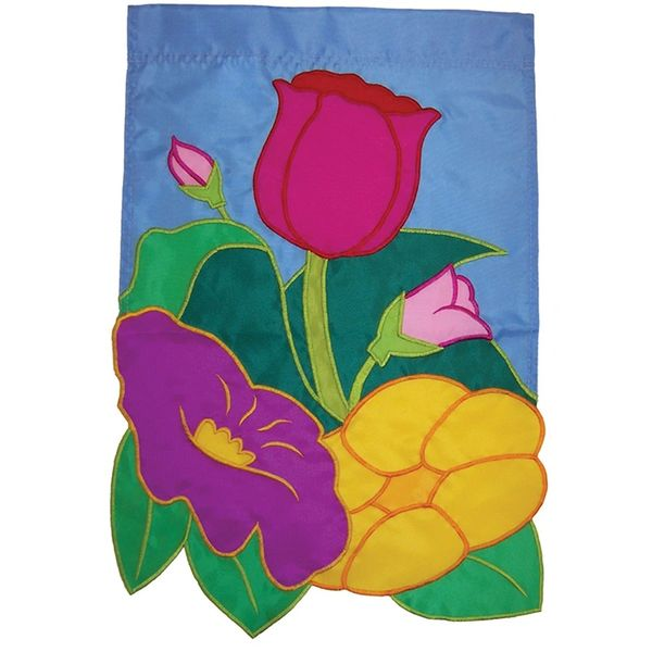 Floral Applique Banner