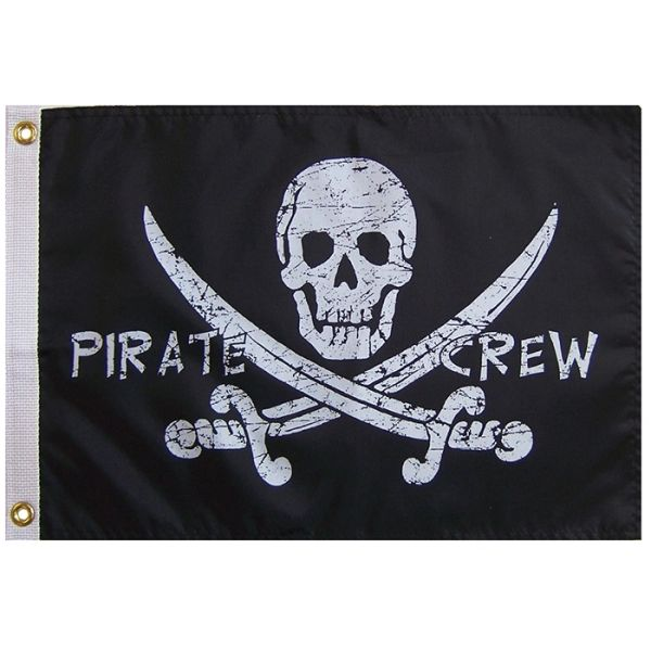 Pirate Crew 12x18 Grommet Flag