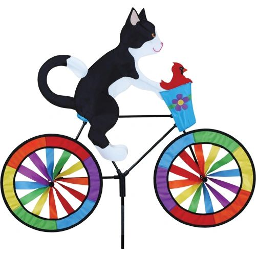 Tuxedo Cat Bicycle Spinner by Premier