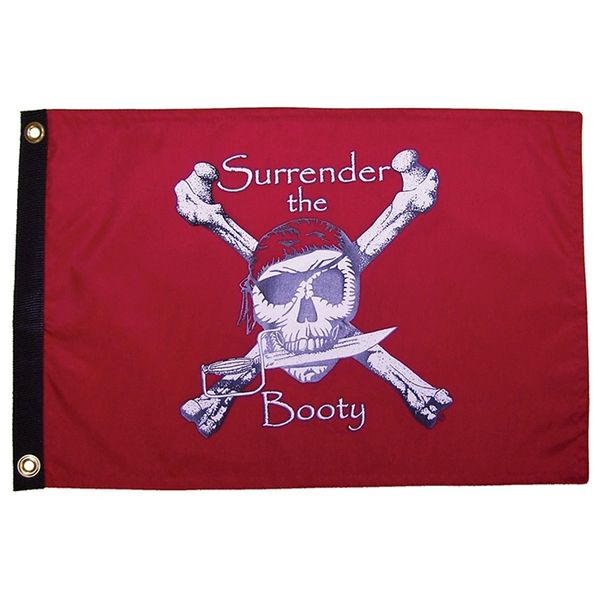 Surrender Booty Red 3'x5' Grommet Flag