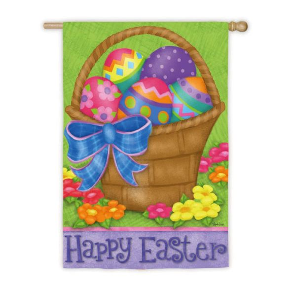 Happy Easter Basket House Flag