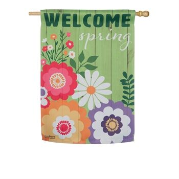 Welcome Spring House Flag
