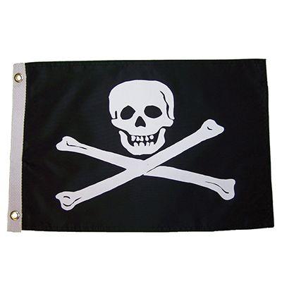 Jolly Roger 12x18 Grommet Flag