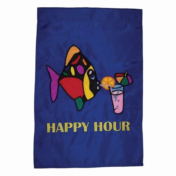 Happy Hour Applique Garden Banner