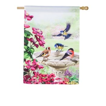 Garden Birds House Flag