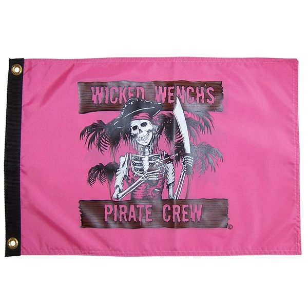 Wicked Wench's Pirate Crew 12x18 Grommet Flag
