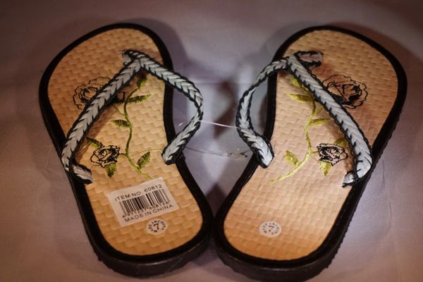 9daba33ead4f Black Bamboo Sandals