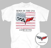 Born in the USA Corvette - Tshirt