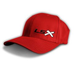 LSX - Flexfit red (black white black)
