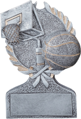 Basketball Pewter Resin