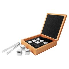 Whiskey Stone Set with Bamboo Case