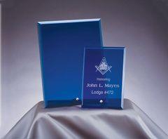 Blue Glass Plaque