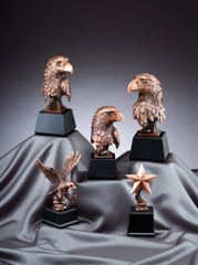 Bronze Eagle Head Statues