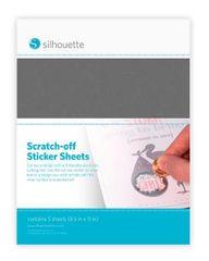 Scratch-Off Sticker Sheets Silver