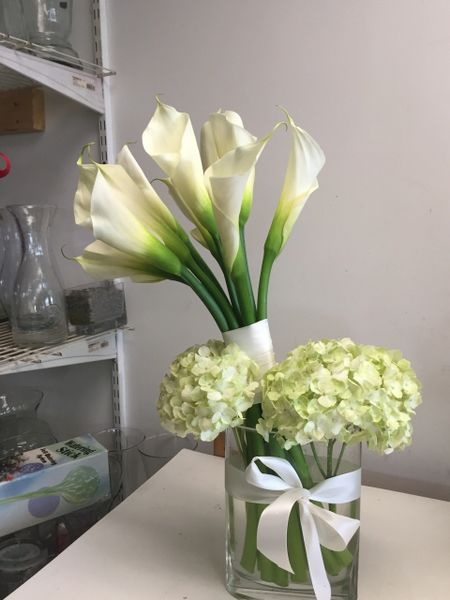 Calla Lily And Hydrangea Vase Flowers Of Sandy Springs