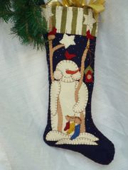 "#068 ""Victor"" snowman 25"" long Stocking pattern(Download only )"