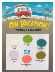 "TOY Wool felts ""On Vacation"" - 6 colors in this set go together so well"