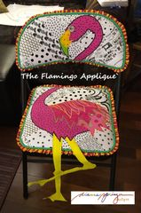 Applique for Chair Pattern -The Flamingo applique`only