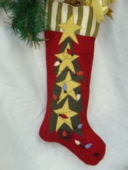"#065 O' Christmas Tree 25"" long stocking pattern Download only"